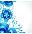 Decoration floral background vector image
