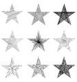 Hand-drawn sketch stars design vector image