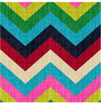 seamless chevron retro pattern vector image