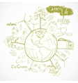 Doodles ecology and environment concept vector image vector image