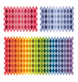 Colorful rainbow argyle background collection set vector image