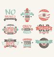 Longboard club emblems vector image