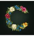 C letter Flower capital alphabet Colorful font vector image
