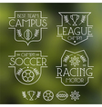 Sport badges and icons vector image vector image