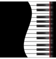 Piano on a black background vector image vector image