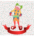 clown playing card vector image vector image