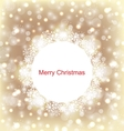Christmas Round Frame Made in Snowflakes vector image vector image