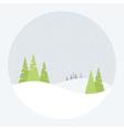 a winter landscape vector image