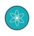 atom molecule structure model blue circle vector image
