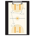Basketball tactic vector image