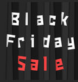 black friday sale with stripes vector image