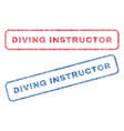 diving instructor textile stamps vector image