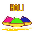 holi festival of spring and bright colors in india vector image