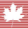 Maple Leaf on Stripes vector image