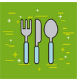 cutlery food vector image