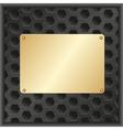 golden plaque vector image