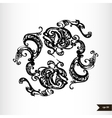 Zodiac signs black and white - Pisces vector image vector image