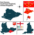 East Sussex South East England vector image