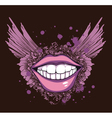 vintage t-shirt design with mouth vector image vector image