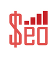 seo money vector image
