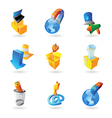 Icons for industry and ecology vector image vector image