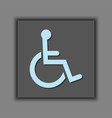 abstract public access disabled symbol icon vector image