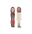 arabic couple in national clothes vector image