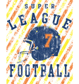 Football league vector image