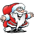 Hand-drawn of an Santa Claus vector image
