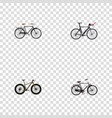 realistic competition bicycle training vehicle vector image