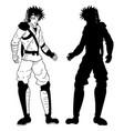 samurai draw vector image