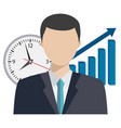 time management theme vector image