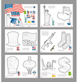 USA coloring book Patriotic book for coloring vector image