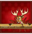 Cristmas deer card 3 vector image vector image