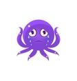 Crying Funny Octopus Emoji vector image vector image