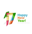 Happy New Year and Chrismas holiday greeting card vector image