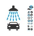 Car Shower Icon With Tools Bonus vector image