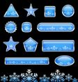 snowflakes set vector image vector image