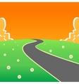 Road into the unknown vector image