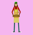 digital kid cartoon simple character vector image vector image