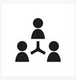 User internet sign icon in simple black design vector image