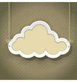cloud retro2 01 vector image vector image