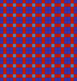 blue and red symmetrical checkered plaid vector image
