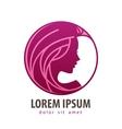 beautiful girl logo design template vector image