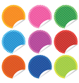perforated stickers set vector image