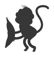 monkey cartoon icon silhouette vector image