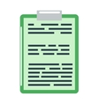 Clipboard document content checklist test icon vector image