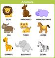 Cute Set of Animal for kids Flat design vector image