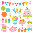 Easter party set vector image