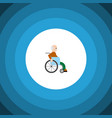isolated disabled person flat icon handicapped vector image